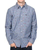 Matix Katana Blue Chambray Long Sleeve Button Up Shirt