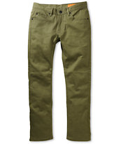 Matix Marc Johnson Gripper Army Green Slim Fit Jeans
