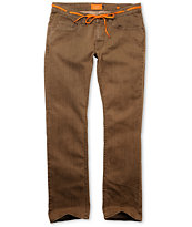 Matix Marc Johnson Java Brown Slim Jeans