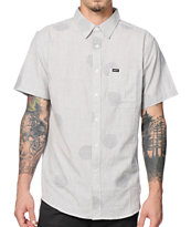 Matix Mod Dots Grey Short Sleeve Button Up Shirt