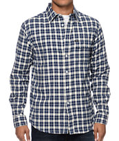 Matix Morgan Grey & Blue Plaid Flannel Shirt