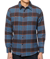 Matix Piller Blue Long Sleeve Flannel Shirt