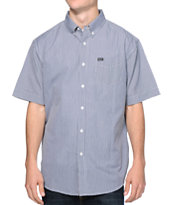 Matix Rodzy Navy & White Plaid Short Sleeve Button Up Shirt