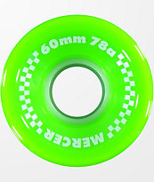 Mercer 60mm 78a Lime Green Skateboard Wheels