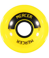 Mercer 70mm Yellow 83a Longboard Wheels