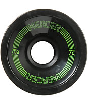 Mercer 72mm Black 78a Longboard Wheels