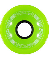 Mercer 72mm Lime Green 78a Longboard Wheels