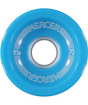 Mercer Buffalo Blue 70mm Longboard Wheels