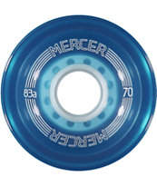 Mercer Clear Blue 70mm Cruiser Wheels