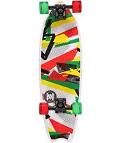 Mercer Confetti Rasta 28 Cruiser Complete Skateboard