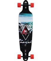 "Mercer Geo Mystics 40"" Drop Through Longboard Complete"