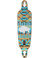 "Mercer White Buffalo 40"" Drop Through Longboard Deck"