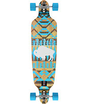 Mercer White Buffalo 40 Drop Through Longboard Complete