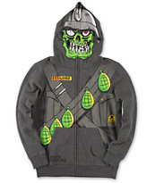 Metal Mulisha Boys Blaster Squad Charcoal Face Mask Hoodie