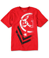 Metal Mulisha Boys Decline Red Tee Shirt