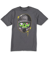 Metal Mulisha Boys Eyegore Rider Charcoal Tee Shirt
