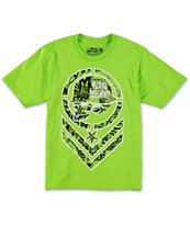 Metal Mulisha Boys Filler Bright Green Tee Shirt