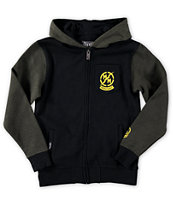 Metal Mulisha Boys Hurdle Military Zip Up Hoodie