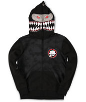 Metal Mulisha Boys Shark Bait Black Full Zip Face Mask Hoodie