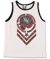 Metal Mulisha Boys Shred White Tank Top
