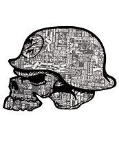 Metal Mulisha Brand Dead Helmet Sticker