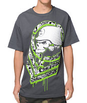 Metal Mulisha Chevster Charcoal & Green Tee Shirt
