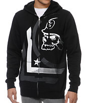Metal Mulisha Diminish Black & White Zip Up Hoodie