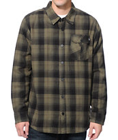 Metal Mulisha Duty Black & Green Long Sleeve Flannel Shirt