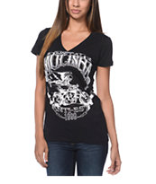 Metal Mulisha Extra Fly Black V-Neck Tee Shirt