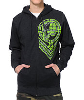 Metal Mulisha Filler Up Charcoal Zip Up Hoodie