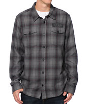 Metal Mulisha Route 1 Black Long Sleeve Flannel Shirt