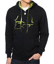Metal Mulisha Ruts Black & Camo Zip Up Hoodie