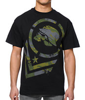 Metal Mulisha Sabotage Black & Camo Tee Shirt