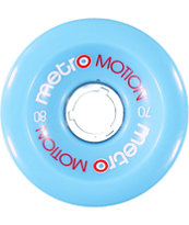 Metro Wheel Company Motion 70mm Light Blue Longboard Wheels