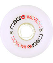 Metro Wheel Company Motion 70mm White Longboard Wheels