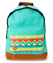 Mi-Pac Bermuda Blue Aztec Textile Backpack