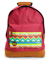Mi-Pac Burgundy Aztec Textile Backpack