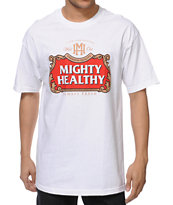 Mighty Healthy Crafty White Tee Shirt