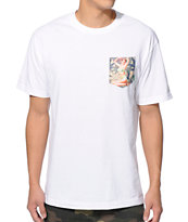 Mighty Healthy Mary Jane White Pocket Tee Shirt