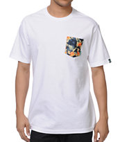 Mighty Healthy Montalban White Pocket Tee Shirt