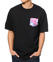 Mighty Healthy Nebula Black Pocket Tee Shirt