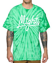 Mighty Healthy Script Tie Dye Tee Shirt
