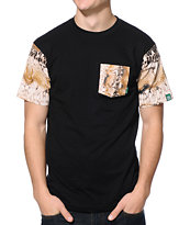 Mighty Healthy Snake Pit Black Pocket Tee Shirt
