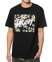 Mighty Healthy Spaced Black Tee Shirt