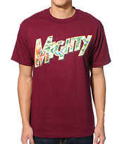 Mighty Healthy Tropic Burgundy Tee Shirt