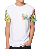 Mighty Healthy Tropic Thunder White Pocket Tee Shirt