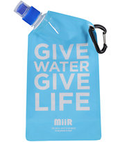 MiiR Give Water Give Life Blue Collapsible Water Bottle