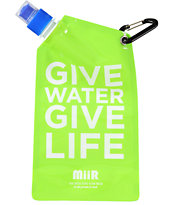 MiiR Give Water Give Life Green Collapsible Water Bottle