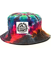 Milkcrate Black Tie Dye Bucket Hat