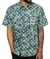 Milkcrate Camo Dot Button Up Shirt